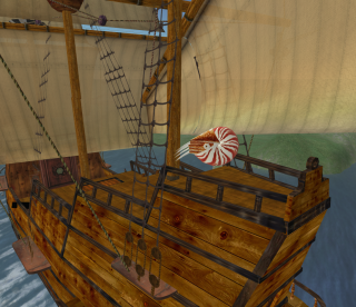 Joshua Linden aboard his sturdy ship