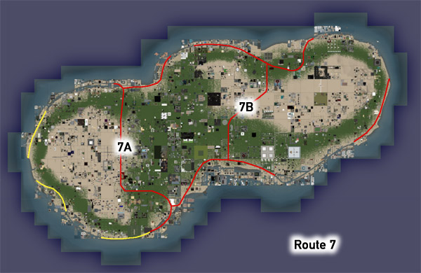 Route 7 preliminary map