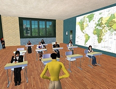 Languagelab Students in Second Life