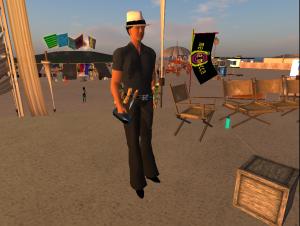 Burning Man Founder Larry Harvey visits Burning Life
